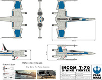 Personal Project - T-70 X-Wing 1:40