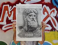 Zeus or Poseidon / Silkscreen Print