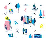 Pattern Illustration for Laurea Polytechnic