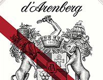 D'Arenberg Wine Label Illustrated by Steven Noble