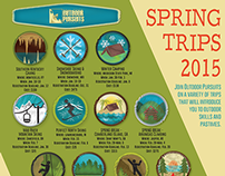 Outdoor Pursuits Spring Trips Campaign