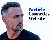 Particle Cosmetics Website