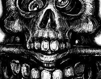 Agro Truck Eating Skull Screenprint