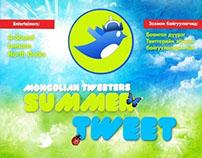Summer Tweet Poster Design