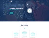 UI/UX for Broadband Internet Provider Webpage