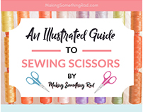 An Illustrated Guide to Sewing Scissors Infographic