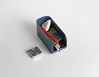 Magnet pen tray
