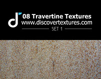Set of travertine texture 1