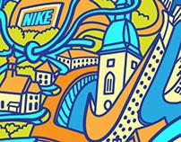 Bratislava Marathon Illustrations