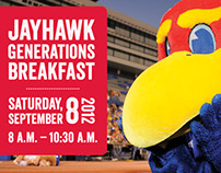 Jayhawk Generations Parent Breakfast Invite