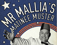 'Mr Mallia's Matinee Muster' - gig poster