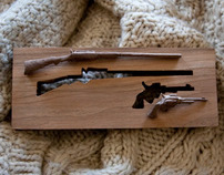 Miniature Six Shooter and Double Barrel Shotgun