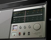 Braun T1000 based App GUI Design