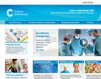 Website Corporativo . Clínica Corachan
