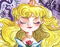 Princess in watercolor