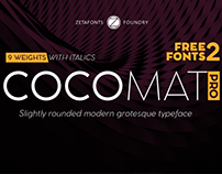 Cocomat Pro Typeface family with 2 free fonts