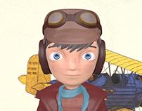 Pilot Character Modeling In Blender