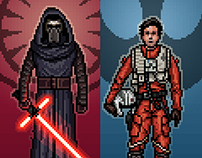 Force Awakens Pixel Art