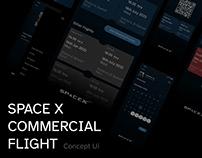 Space X Commercial App UI