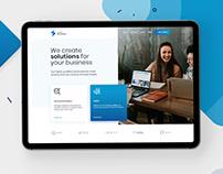 Atomic Businesses - Landing page Ui / Ux / Web Design