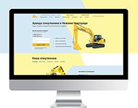 Сайт для аренды техники