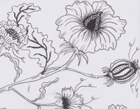 Chintz inspired drawing