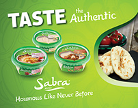 Sabra Houmous 2015/6 £500k Press, Billboard, Web & PoS