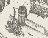 2D Graphic Architectural study of Medieval Belgrade