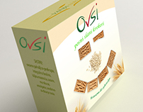 Ovsi cracker logo & packaging design