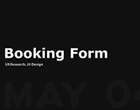 Booking Form Improvement Design