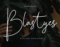 Blastyes Script Font