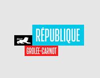 République Grolée-Carnot -Brand design