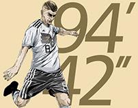 """94'42"""" - Toni Kroos"""