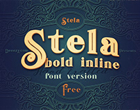Stela Bold Inline – Free Font