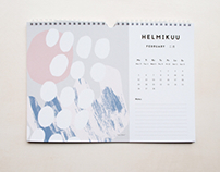 Illustrated calendar 2018