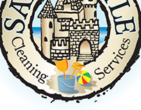 Sandcastle Cleaning Logo/Tee