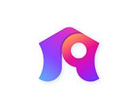 House+Location icon - Real Estate Logo