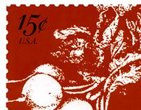 Vintage Radish Series of Stamps