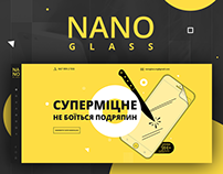 Landing design for Nano glass.