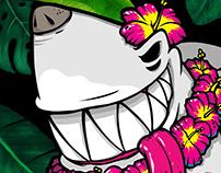 Sharkdog surf hawaii Extreme character design