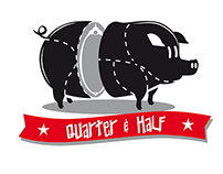 Logo for QUARTER & HALF / street-food