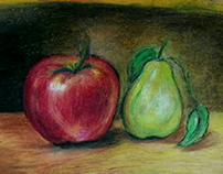 still life | 'Black and White' and colored drawings