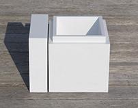White Cooler Box