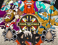 Four Kings Drinking Card Game