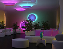 Concept of Lounge zone in shopping center