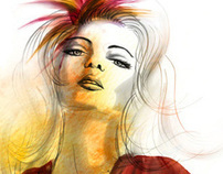 Fashion Illustration created with CS5