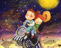 Train adventure | Children's illustration