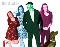 2015 House of Weien Christmas Album Cover Card