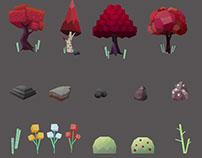 Concept de props para jogo 3D