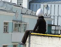 Eggman on a roof